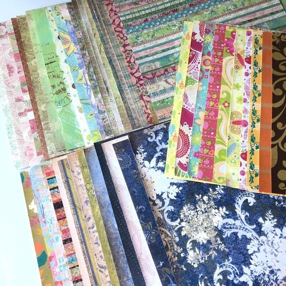 Scrapbook Paper Lot 100PC 12x12 Craft Paper